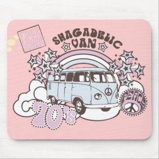 Hippy retro Van de los años 70 de Shagadelic Alfombrillas De Ratones