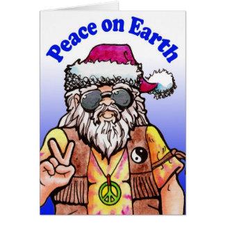 Hippy Santa Greeting Card