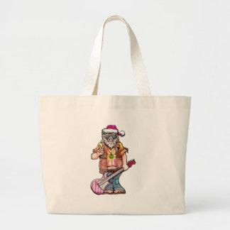"""Hippy Santa says """"Cool Yule"""" Large Tote Bag"""