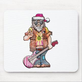 """Hippy Santa says """"Cool Yule"""" Mouse Pad"""
