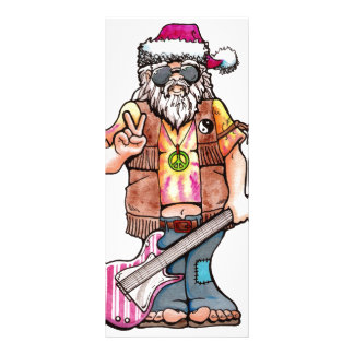 "Hippy Santa says ""Cool Yule"" Rack Card"