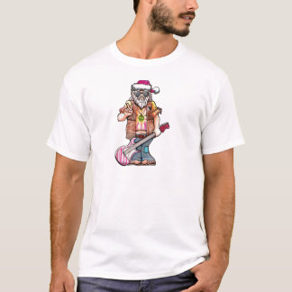 "Hippy Santa says ""Cool Yule"" T-Shirt"