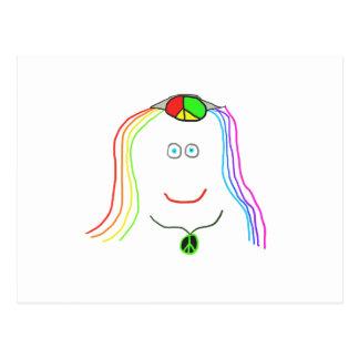 Hippy Smile Postcard