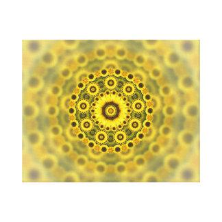 Hippy Sunflower Fractal Mandala Pattern Canvas Print