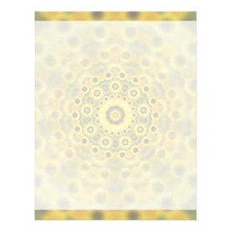 Hippy Sunflower Fractal Mandala Pattern Letterhead