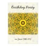 Hippy Sunflower Mandala Birthday Announcements