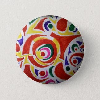 Hippy Swirls Button