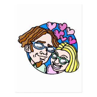 Hippy Valentine Postcard