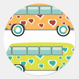 Hippy Van Classic Round Sticker