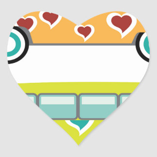Hippy Van Heart Sticker