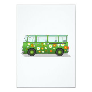 Hippy Van 3.5x5 Paper Invitation Card