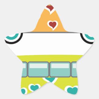Hippy Van Star Sticker