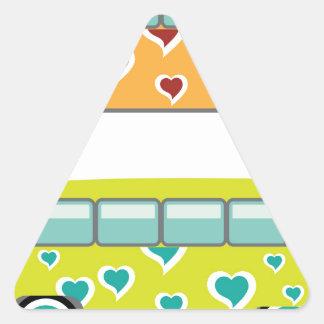 Hippy Van Triangle Sticker