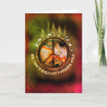Hippy World Occasions Greeting Card Welcome Autumn Cat Greeting Card (Visit shop to see more cute meaningful cards)
