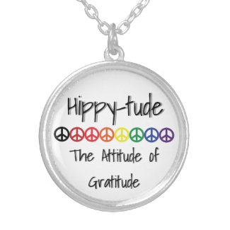 Hippytude Peace Attitude Silver Plated Necklace