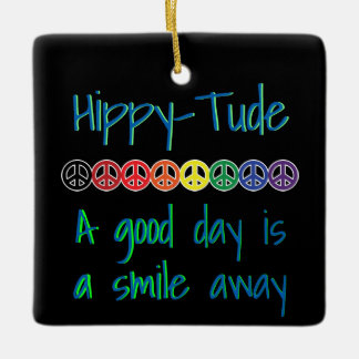 Hippytude Smile Every Day Ceramic Ornament