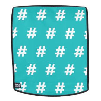 Hipstar Hashtag Blue Backpack