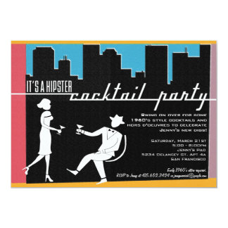 Hipster 1960's Cocktail Party Invitation