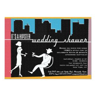 Hipster 1960's Wedding or Bridal Shower Invitation