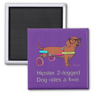 Hipster 2-legged Dog Magnet