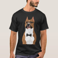 Hipster American Staffordshire Terrier Dog T-Shirt