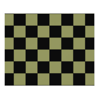 Hipster Army Green Checkerboard Chessboard Flyer