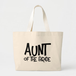 Hipster Aunt of the Bride Large Tote Bag