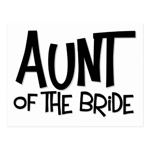 Hipster Aunt of the Bride Postcard