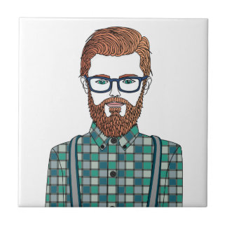 hipster azulejo cuadrado pequeño
