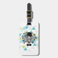 Hipster Baboon Monkey Illustration Geometric Art Bag Tag at Zazzle