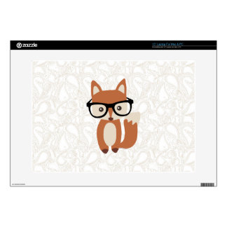 """Hipster Baby Fox w/Glasses 15"""" Laptop Skins"""