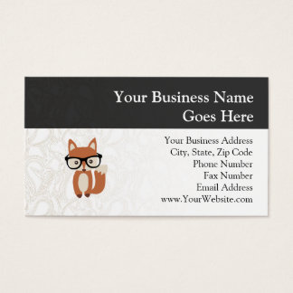Hipster Baby Fox w/Glasses Business Card