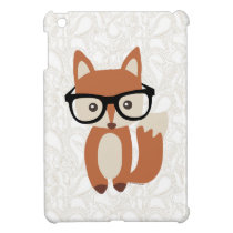 Hipster Baby Fox w/Glasses Case For The iPad Mini