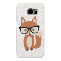 Hipster Baby Fox w/Glasses Cute Samsung Galaxy S6 Case