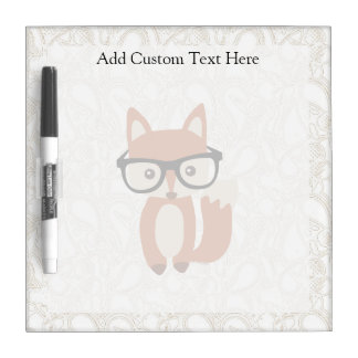 Hipster Baby Fox w/Glasses Dry Erase Whiteboard