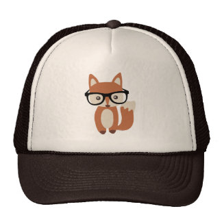 Hipster Baby Fox w Glasses Hat