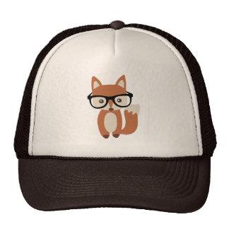 Hipster Baby Fox w/Glasses Trucker Hat