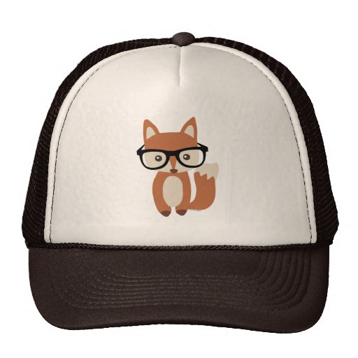 Hipster Baby Fox w/Glasses Hat