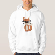 Hipster Baby Fox w/Glasses Hoodie
