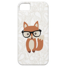 Hipster Baby Fox W/glasses Iphone Se/5/5s Case at Zazzle