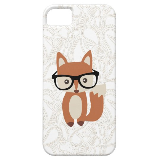 Hipster Baby Fox w/Glasses iPhone SE/5/5s Case