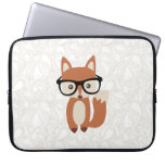 Hipster Baby Fox w/Glasses Laptop Sleeve