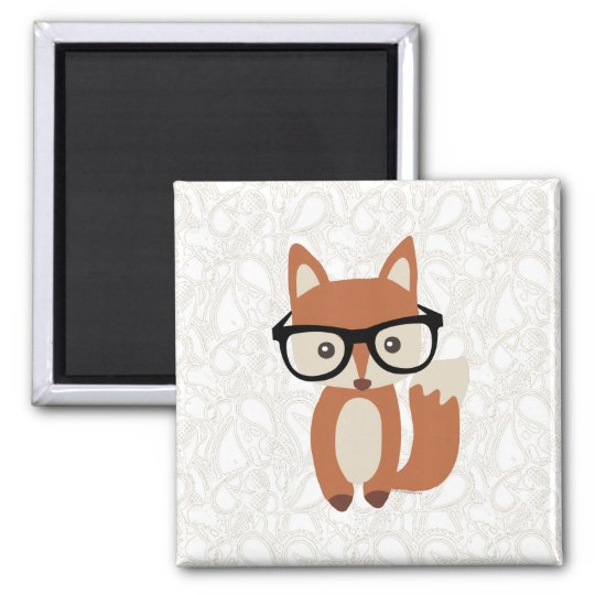Hipster Baby Fox w/Glasses Magnet