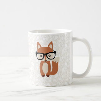 Hipster Baby Fox w/Glasses Coffee Mugs