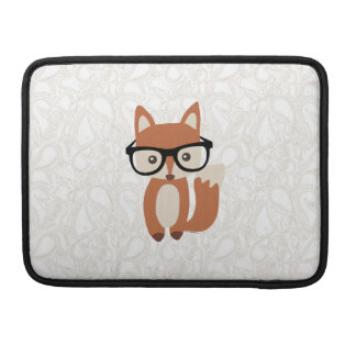 Hipster Baby Fox w/Glasses Sleeve For MacBook Pro