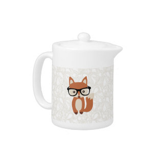Hipster Baby Fox W/glasses Teapot at Zazzle