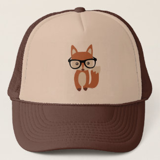 Hipster Baby Fox w/Glasses Trucker Hat