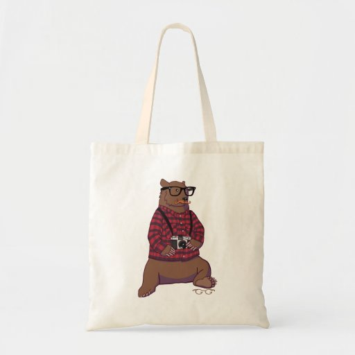 Hipster Bear Bag (without text)