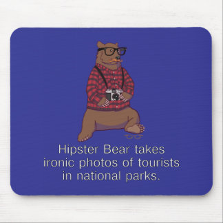 Hipster Bear Mousepad