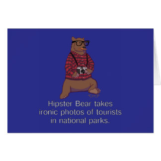 Hipster Bear Note Card